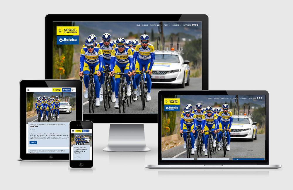 Nieuwe website Sport Vlaanderen - Baloise 2021